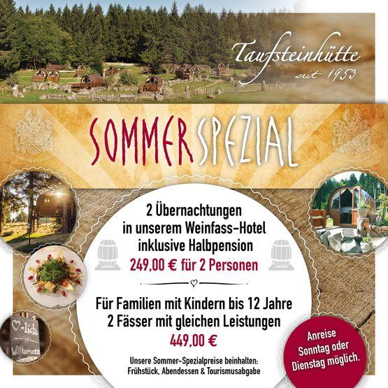 Sommer Spezial -  Das Angebot ist vom 19.06. - 13.09.2020 gültig.