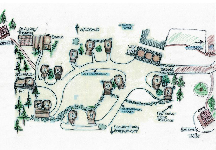 Lageplan Weinfässer